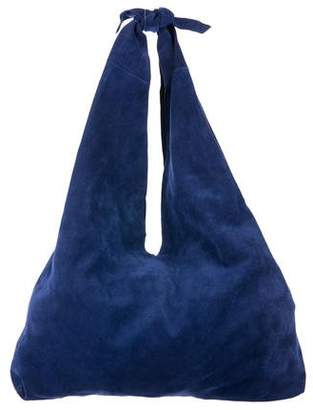 The Row Suede Bindle Hobo