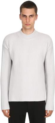 Blend of America Wool & Cashmere Rib Knit Sweater