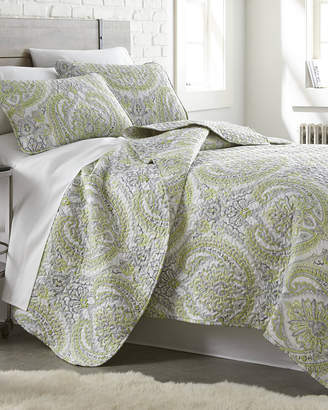South Shore Linens Pure Melody Classic Paisley Printed Quilt Set