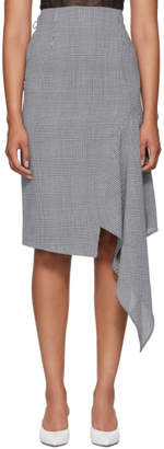Off-White Off White Black and White Houndstooth Galles Skirt
