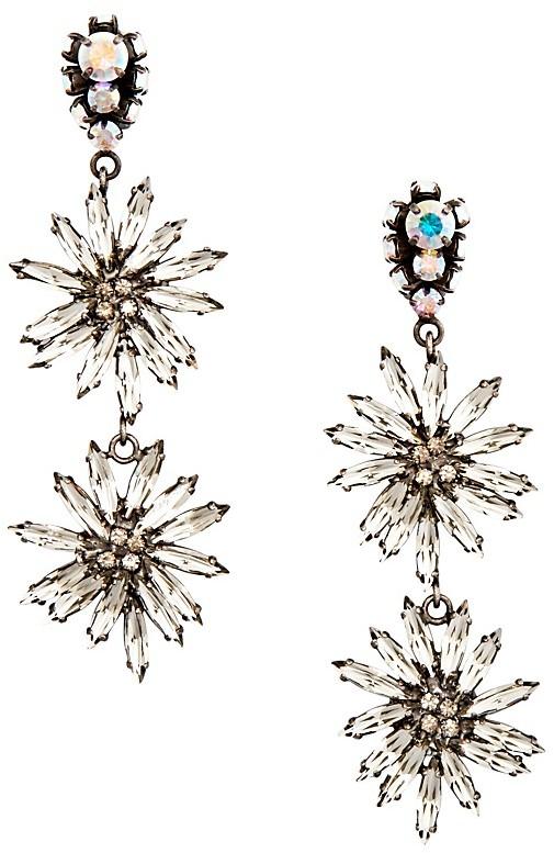 MarniMarni Strass Flower Clip-On Drop Earrings