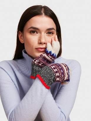 White + Warren Cashmere Fair Isle Fingerless Glove