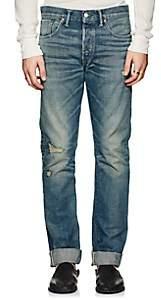 3.1 Phillip Lim Rrl Men's Slim Distressed Jeans-Blue Size