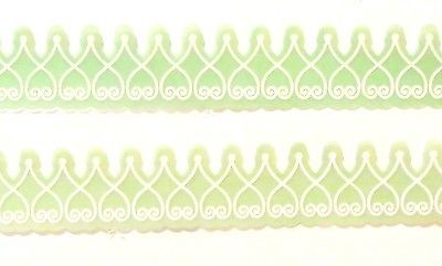 Martha Stewart Snowflake Vellum 3 Mint Green Embossed Adhesive Sticker Borders