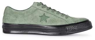 f366e67c7b4994 at Harvey Nichols · Converse One Star Academy OX Green Suede Trainers