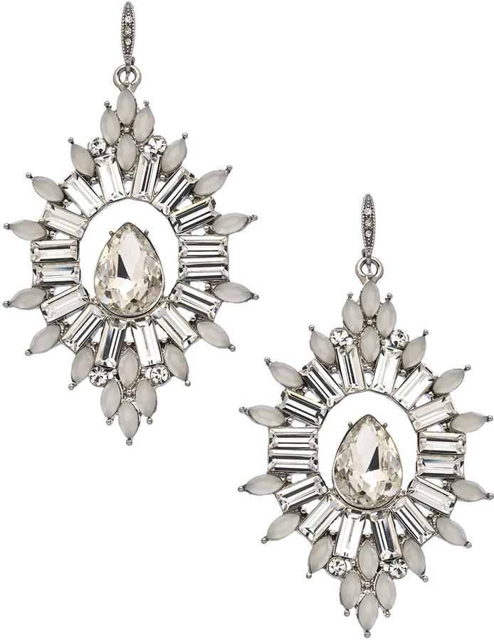 Carolee Sunburst Crystal Drop Earrings