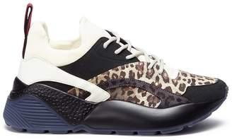 Stella McCartney 'Eclypse' leopard print panel chunky outsole sneakers