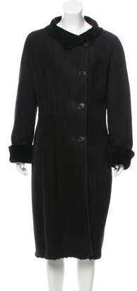 Oscar de la Renta Long Shearling Coat
