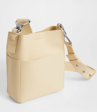 a342d7b68c2 AllSaints Captain Leather North South Crossbody Bag