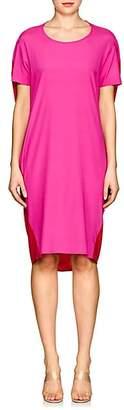 Zero Maria Cornejo Women's Pod Colorblocked Silk Dress - Fuschia, Poppy