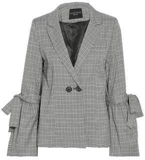 Walter W118 By Baker Bow-Detailed Checked Woven Blazer