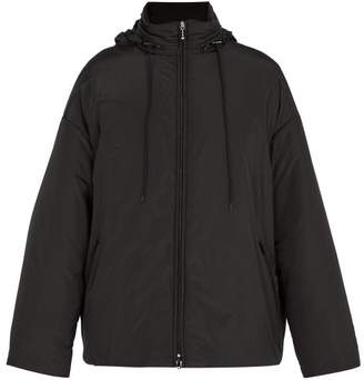 Balenciaga Logo Windbreaker Jacket - Mens - Black