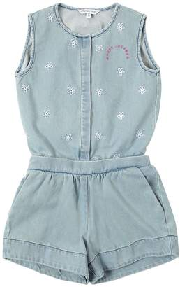 Little Marc Jacobs EMBROIDERED COTTON DENIM TOP & SHORTS