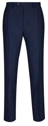 Burton Mens Tapered Pleat Textured Trousers