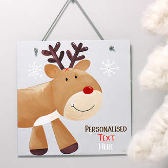 Eliza J design Personalised Reindeer Christmas Wall Art