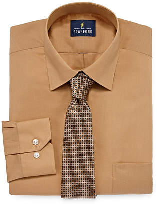 STAFFORD Stafford Dress Shirt And Tie Set Big And Tall