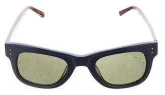 Linda Farrow Narrow Tinted Sunglasses