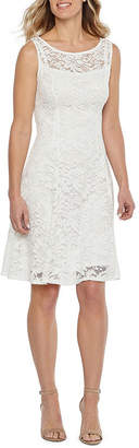 Liz Claiborne Sleeveless Floral Lace Fit & Flare Dress