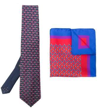 Etro turtle print tie and square pocket set
