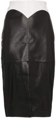 Filles a papa Dixie medium rise fitted leather skirt