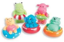 Elegant Baby Baby's Five-Piece Swim Party Squirtable Bath Toys Set