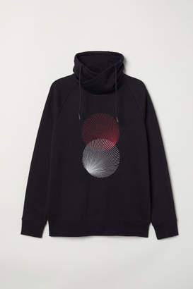 H&M Chimney-collar Sweatshirt - Black