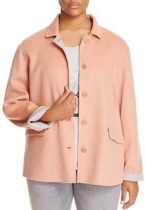 Marina Rinaldi Nacchera Color Block Short Coat