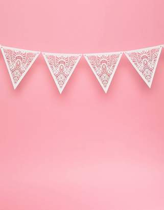 Cotton On White Paper Lace Bunting 2m