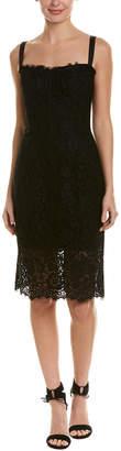 Dolce & Gabbana Lace Silk-Blend Sheath Dress