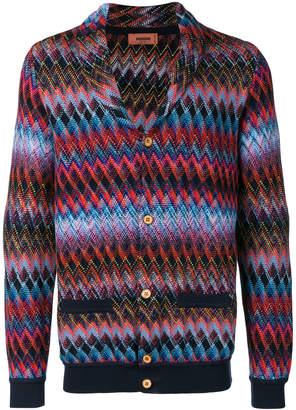 Missoni shawl collar chevron knit cardigan