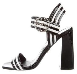 Michael Kors Desi Runway Patent Leather Sandals
