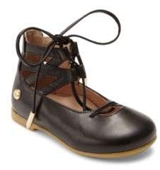 Baby Girl's & Girl's Belgravia Leather Lace-Up Flats