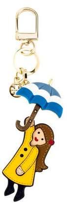 Tory Burch Umbrella Leather Keychain