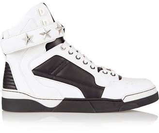 Givenchy - Tyson Sneakers In White And Black Leather $950 thestylecure.com