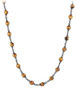 David Yurman Davidyurman Spiritual Rosary Bead Necklace In Tiger Eye