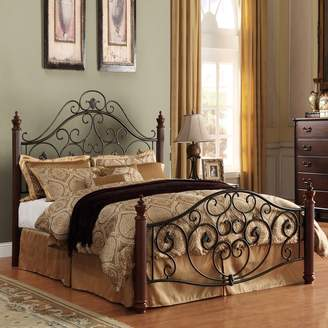 Homevance HomeVance Malia Scrollwork Poster Bed - Queen