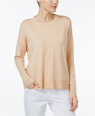 Eileen Fisher Organic Cotton-Cashmere Boxy Top $178 thestylecure.com