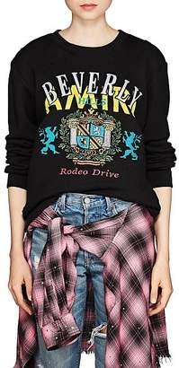 """Amiri Women's """"Beverly Hills"""" Embroidered Cotton Sweatshirt - Black"""