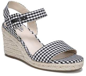 LifeStride Tango Gingham Print Espadrille Wedge Sandal - Wide Width Available