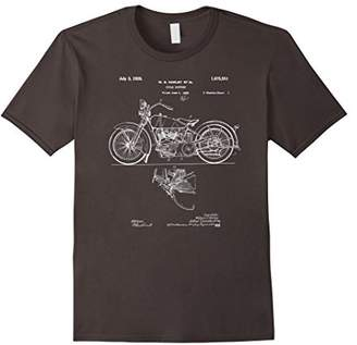 Classic Vintage Patent Print 1928 Motorcycle T-Shirt