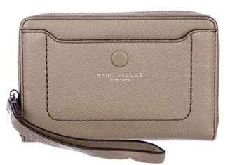 Marc Jacobs Leather Zip Phone Wristlet