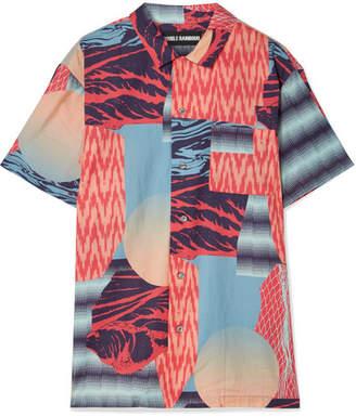 Double Rainbouu - Printed Cotton-voile Shirt - Pink