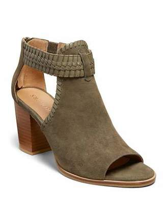 Jack Rogers Tinsley Suede Open-Toe Booties