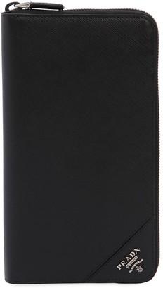 c6e645ddafc7 Prada Cartilio Saffiano Leather Zip Wallet
