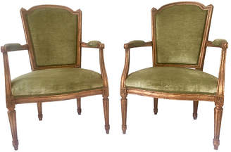 One Kings Lane Vintage 1930s Louis XVI-Style Fauteuils - Set of 2 - Antiques on Jackson