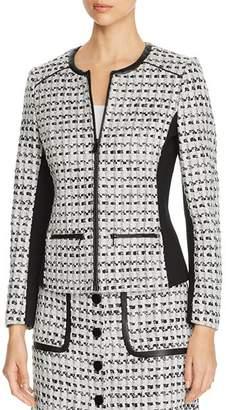 Karl Lagerfeld Paris Contrast-Panel Tweed Jacket