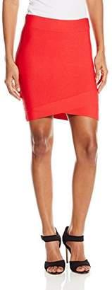 BCBGMAXAZRIA Women's Silvie Criss Cross Hem Skirt