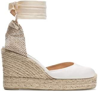 98df15041492 Castaner cream Carina 80 satin wedge heels