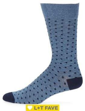 Black & Brown Black Brown Lacroix Dot Socks