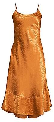 Joie Women's Dalvin Leopard Jacquard Slip Dress